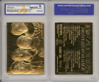 Beatles For Sale 23K Gold Sculptured Card Graded Gem Mint 10