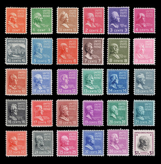 1938 Presidential Issue #803-832 MNH