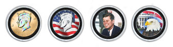 Deluxe Enhanced JFK Half Dollar 4 Coin Set