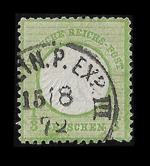 1872 #2 Small Shield 1/3 Groschen Cancelled