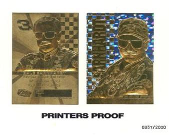 Dale Earnhardt Sr. Stars Printers Proof 23K Gold Sculptured Card