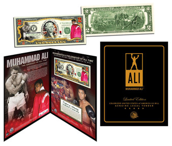 "Muhammad Ali ""Deluxe Edition"" Colorized $2 Bill"