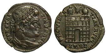 Silvered Ancient Copper of Constantine the Great 272-337 CE