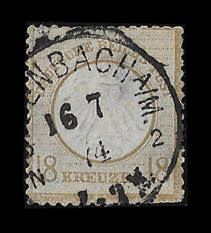 1872 #11 Small Shield 18 Kreuzer Cancelled