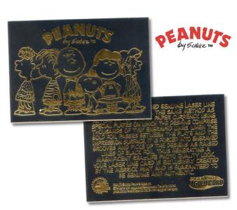 Peanuts Gang 23K Black Gold Card