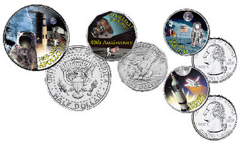 Apollo 11 40th Anniversary Commemorative - 4 Coin Set