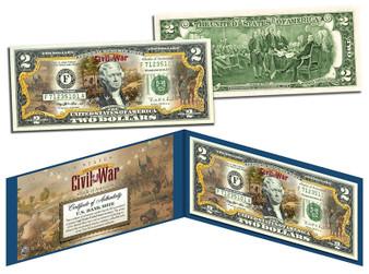 Battle Of Antietam Commemorative Civil War Colorized $2 Bill