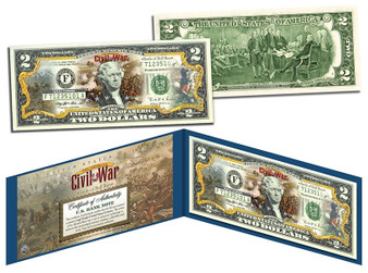 Battle Of Bull Run Commemorative Civil War Colorized $2 Bill