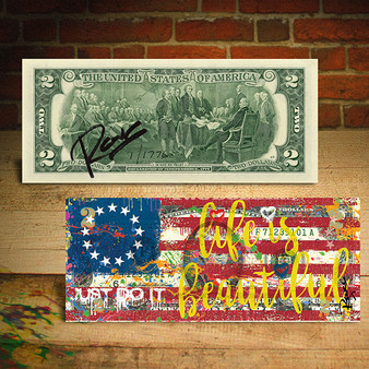 BETSY ROSS FLAG 1776 Nike JUST DO IT Signed Rency Official $2 Bill Limited Edition of 1,776