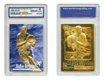 Kobe Bryant SkyBox EX-2000 Rookie Blue 23K Gold Sculptured Card Graded Gem Mint 10