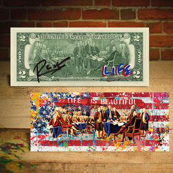 Declaration of Independence LIFE Signed by RENCY Official $2 Bill - Limited Edition of 20