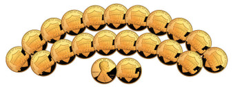 Set of 20 24K Gold-Plated 2010 Lincoln Shield Pennies