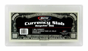 BCW Acrylic Currency Holders - Small Size
