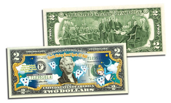 Tooth Fairy Good Luck Dentist Colorized $2 Bill
