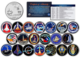 Space Shuttle Missions Major Events 20 Coin NASA State Quarter Set
