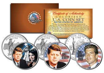 The Kennedy Family Historic 3 Coin State Quarter Set