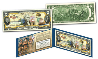 Louisiana Purchase Westward Journey Historical Genuine Legal Tender U.S. $2 Bill