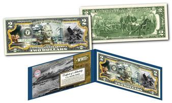 Attack on Pearl Harbor Commemorative Colorized $2 Bill