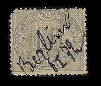 1872 #12 Regular Issue 10 Groschen Hand Cancelled #1