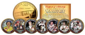 Dale Earnhardt 7-Time Champ 24K Gold 7 Coin Set