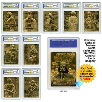 Star Wars Gold 9 Card Set Limited Edition of 10,000