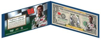 Dale Earnhardt Jr. NASCAR Colorized $1 Bill