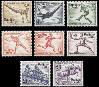 1936 #609-616 Berlin Winter Games MH