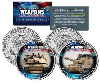 U.S. Weapons Arsenal - Tanks JFK Half Dollar 2 Coin Set