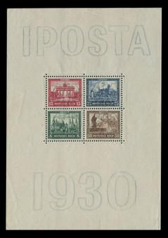 """1930 #446-449 Block 1 """"Iposta"""" International Stamp Exhibition MLH 1"""