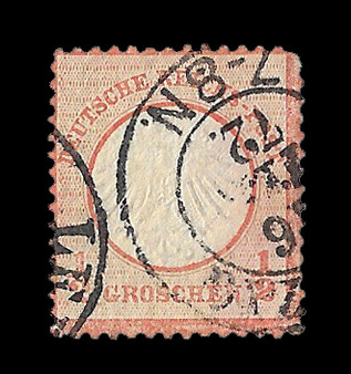 1872 #3 Small Shield 1/2 Groschen Cancelled