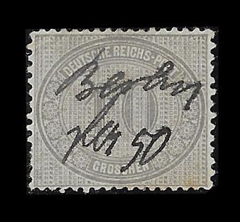 1872 #12 Regular Issue 10 Groschen Hand Cancelled #3