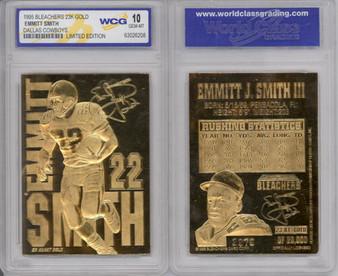 Emmitt Smith 23K Gold Sculptured Card Graded Gem Mint 10