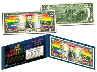 Marriage Equality Colorized $2 Bill