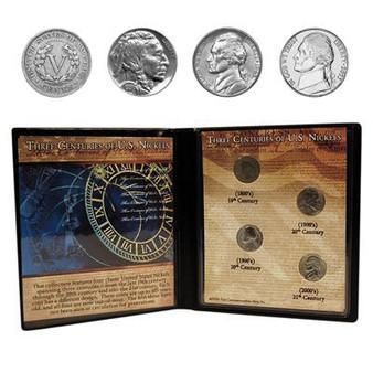 Three Centuries of U.S. Nickels