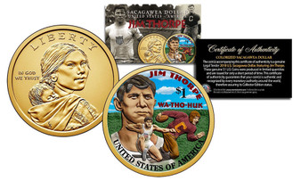 2018 Jim Thorpe Colorized Sacagawea Dollar
