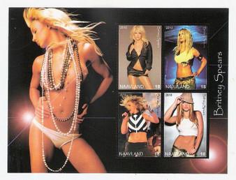 Naavland 2010 Britney Spears Stamp Sheet