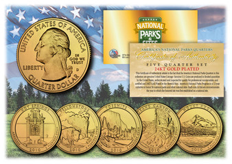 24K Gold Plated National Park Quarters 2010