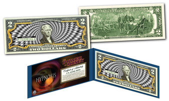 "Hypnosis ""Black & White"" Colorized $2 Bill"