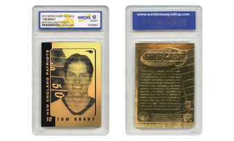 Tom Brady 2003 23K Gold Laser Line Card Graded Gem Mint 10