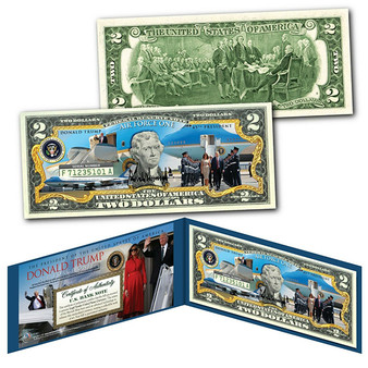 Donald Trump Air Force OneColorized$2 Bill