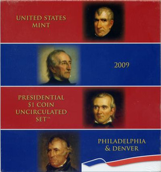 U.S. Mint Packaged 2009 Uncirculated Presidential Dollar 8 Coin Set