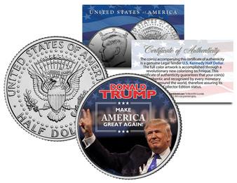 Donald Trump JFK Half Dollar Make America Great Again