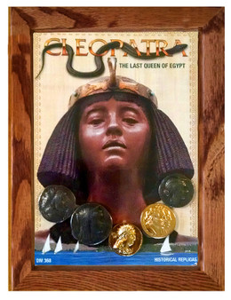 "Cleopatra - The Last Queen Of Egypt 5 Coin Set of Historical Replicas in 5"" x 7"" Frame"