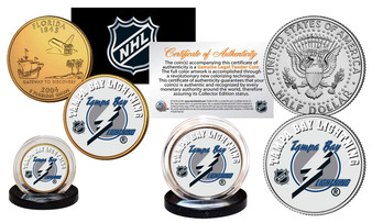NHL Team JFK Half Dollar and State Quarter 2 Coin Set
