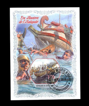 Cote D'Ivoire 2018 Ancient Navy Stamp Sheet