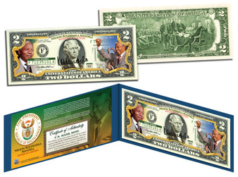 """Nelson Mandela """"President of South Africa"""" $2 Bill"""