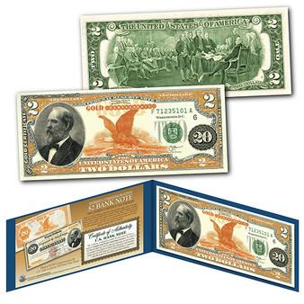 James Garfield $20 Gold Certificate Design