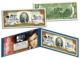 Elvis Presley 75th Birthday Commemorative $2 Bill