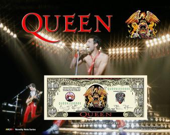 """Queen"" Novelty Million Dollar Bill Obverse Display on an 8"" x 10"" Display Card"