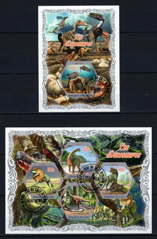 Cote D'Ivoire 2018 Dinosaurs Set of 2 Stamp Sheets